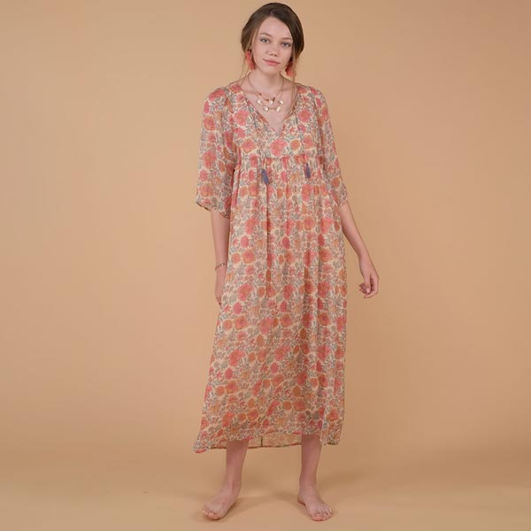 Gali 실크 원피스 dress Multi Flowers-LMB2AOPF783_MFW_LMW-S19-D0194-10