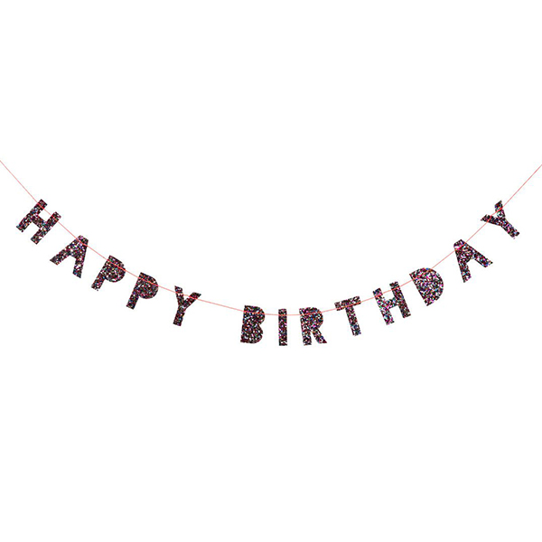 Colored Glitter Birthday Mini Garland_ME1055