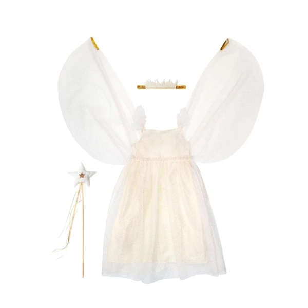 White Tulle Fairy Dress Up 5-6 years _ME5111