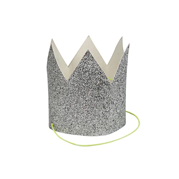 Mini Silver Glittered Crowns (8개세트)_ME5105
