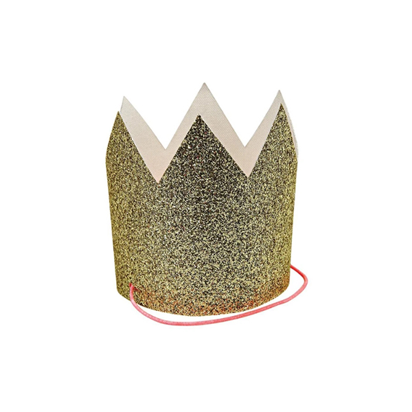 Mini Gold Glittered Crowns (8개세트)_ME5106