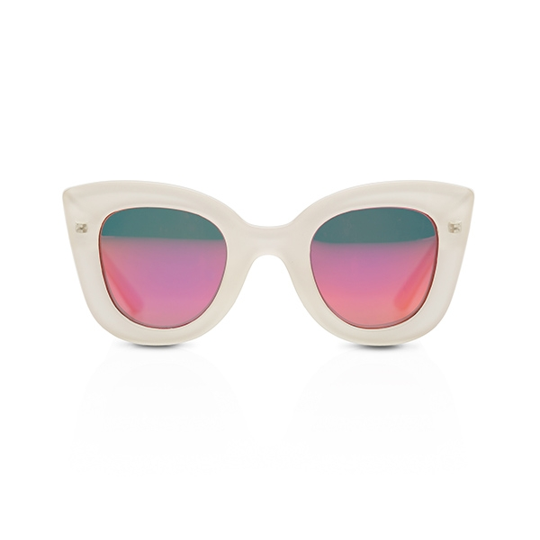 Cat Cat Sunglasses-Crystal Creme w/Mirror_SDCCCC12T16