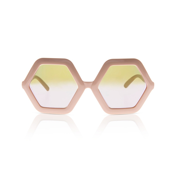 Honey Sunglasses-Bio Nude w/ Mirror_SDHBNM05T16