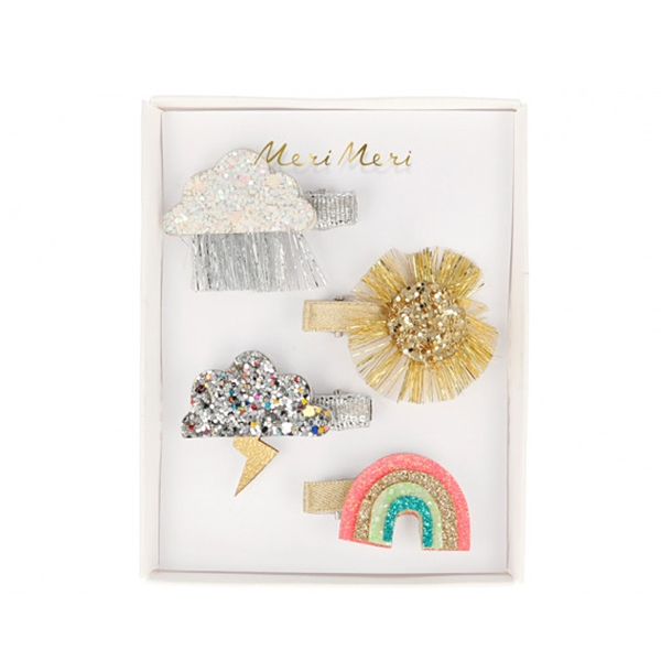 Sparkly Weather Hair Clips (4개 세트)_ME204850