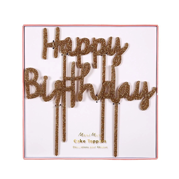 Happy Birthday Acrylic Topper (2개 세트)_ME157060