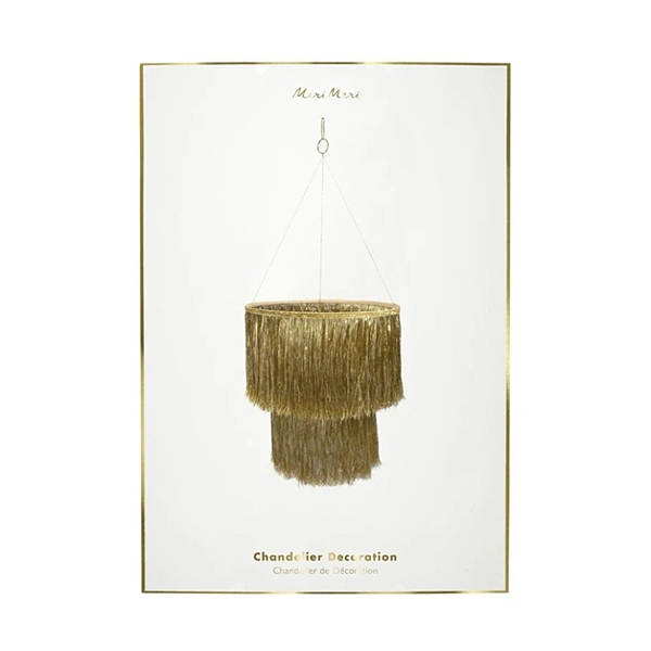 Gold Tinsel Chandelier _ME199111
