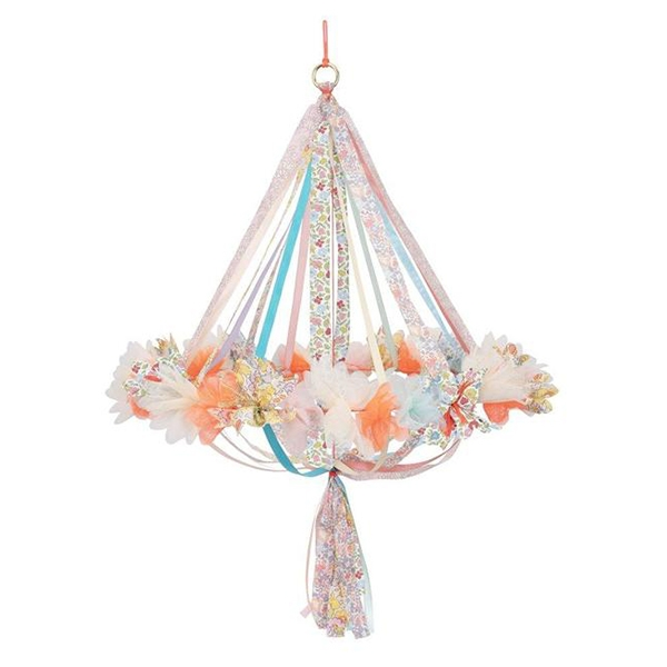 Floral Fabric Chandelier_ME201840