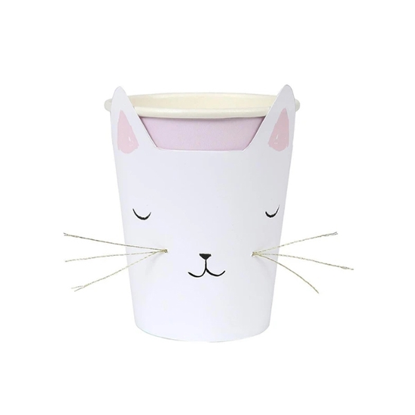 Cat with Whiskers Party Cups (8개 세트)_ME173719