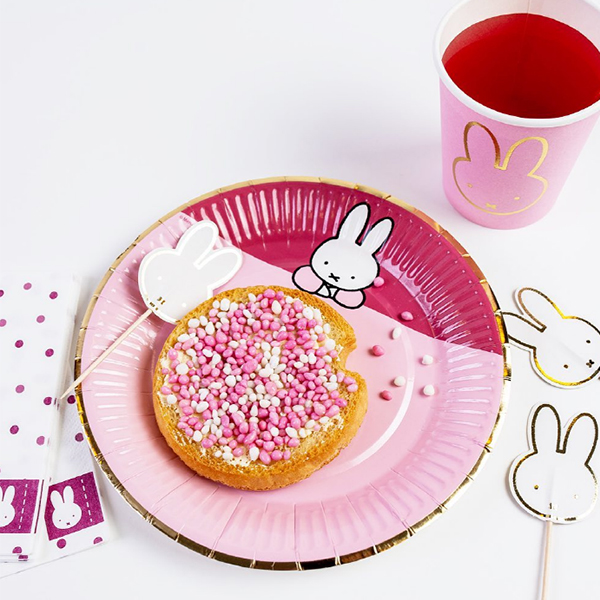 Miffy Plates - Pink (8개 세트)_HM43915008T13