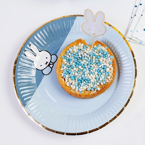 Miffy Plates - Blue (8개 세트)_HM43925012T13