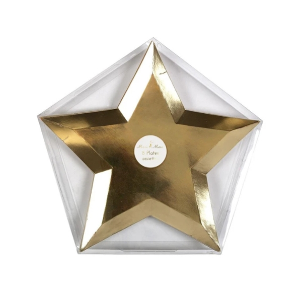 Gold Foil Star Plates (8개 세트)_ME150751