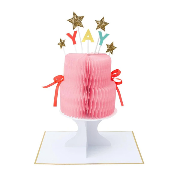 YAY! CAKE STAND-UP CARD_ME193119