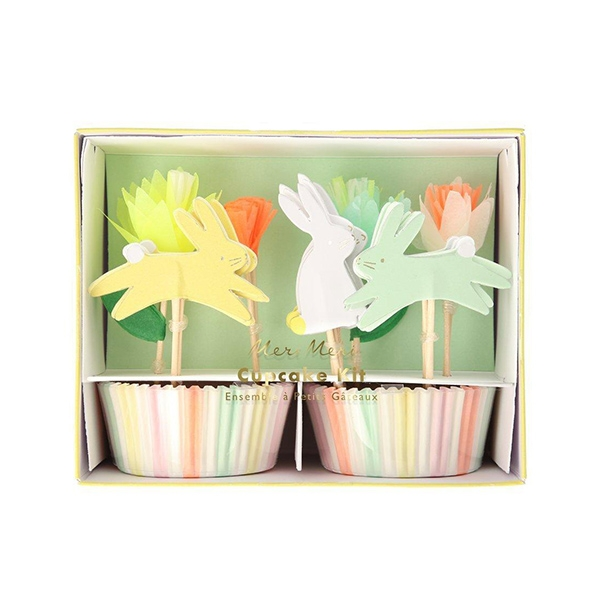 Floral Bunny Cupcake Kit - Pack Of 24_ME201379