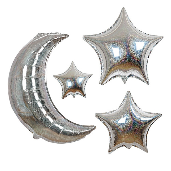Moon And Star Balloons - Set Of 6_ME1006RV