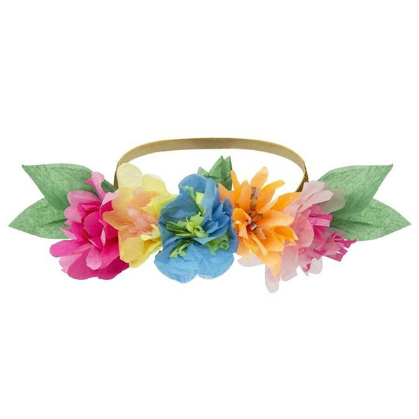 Bright Floral Blossom Party Crowns (6개 세트)_ME192867