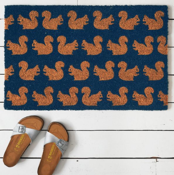 Anorak Kissing Squirrels Doormat