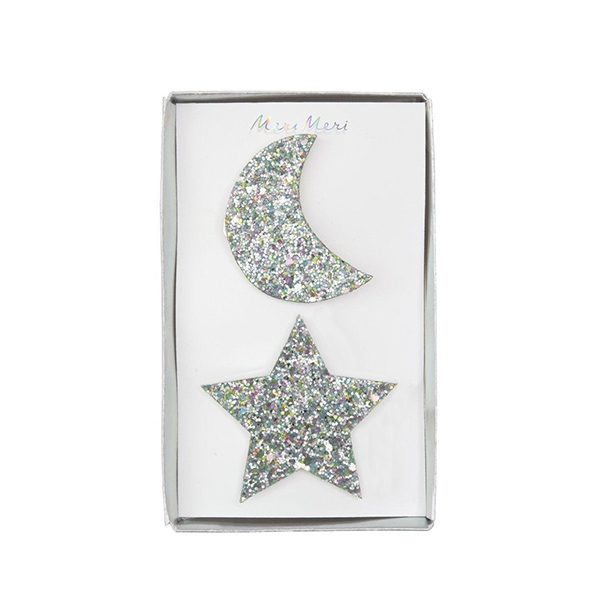 Large Star And Moon Hair Clips (2개 세트)_ME196233
