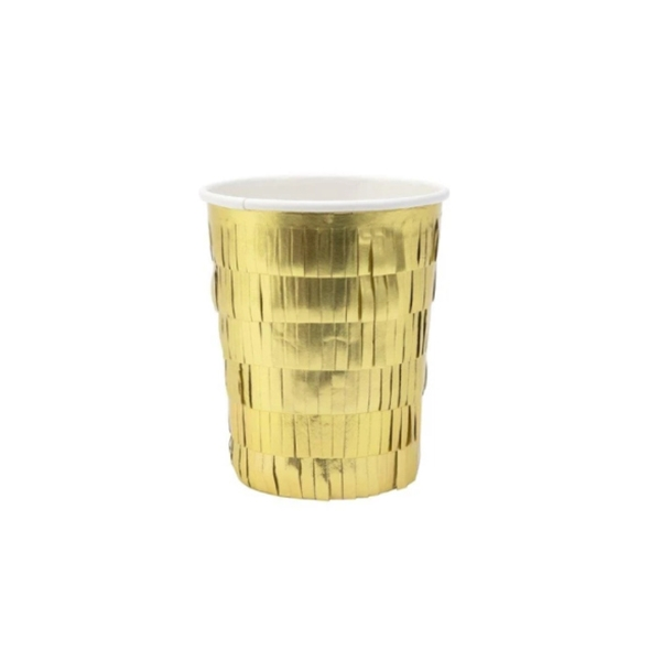 Gold Fringe Party Cups (8개 세트)_ME197205