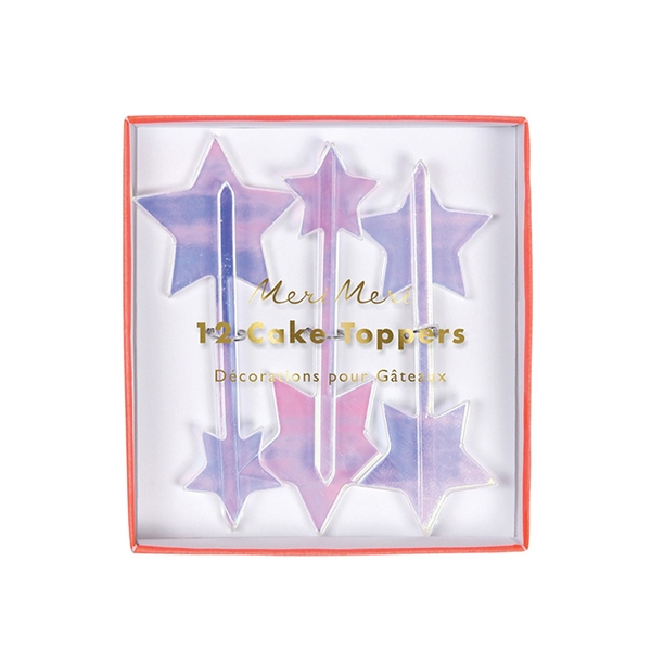Iridescent Star Toppers(12개 세트)_ME165232
