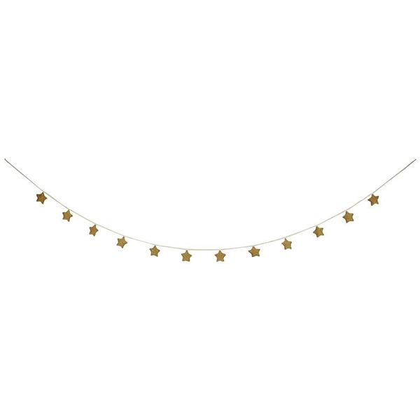 Gold Knitted Star Garland_ME169606