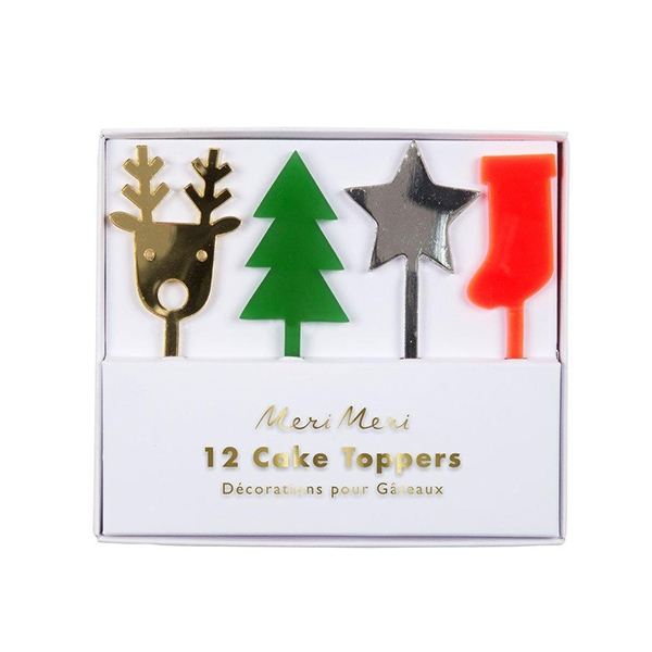 Festive Acrylic Cake Toppers(12개 세트)_ME179245