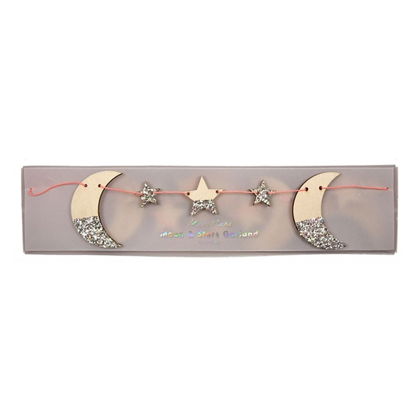 Wooden Moon And Stars Garland_ME179398