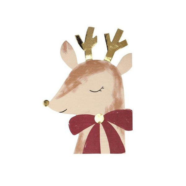 Reindeer With Bow Napkins(16개 세트)_ME208720