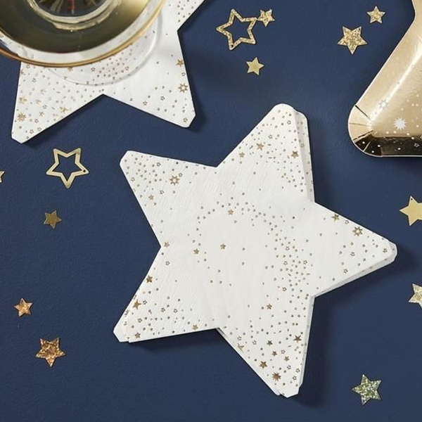 Star Gold Paper Napkins(16개 세트)_POP401GG