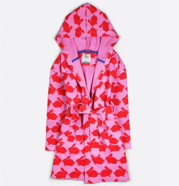 Anorak Kissing Rabbits Kids Dressing Gown