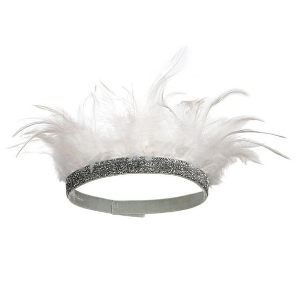 White Feather Party Crown_ME143047