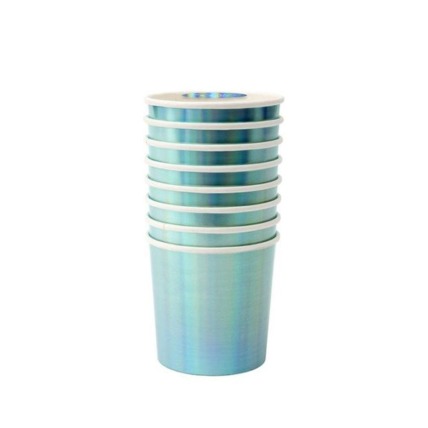 Holographic Blue Tumbler Cups(8개 세트)_ME181999