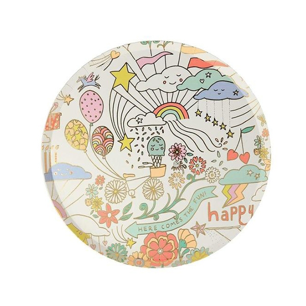 Happy Doodle Side Plates(8개 세트)_ME202316