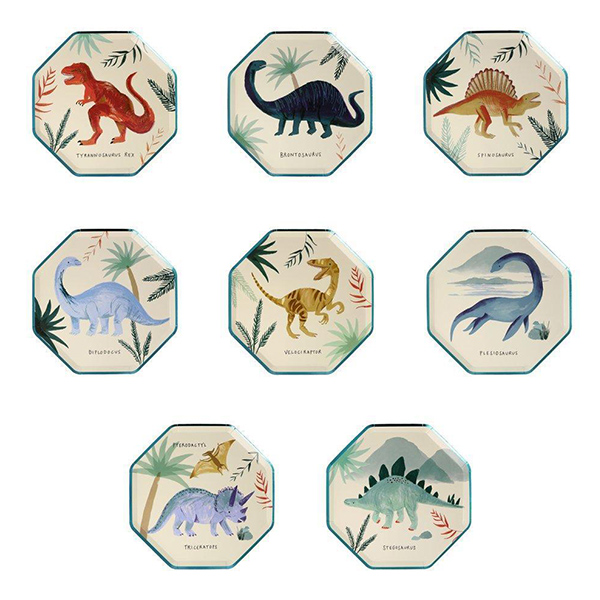 Dinosaur Kingdom Side Plates(8개 세트)_ME202877