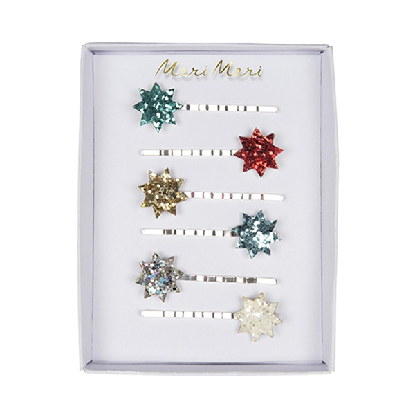 Glitter Star Hair Slides(6개 세트)_ME1803RV