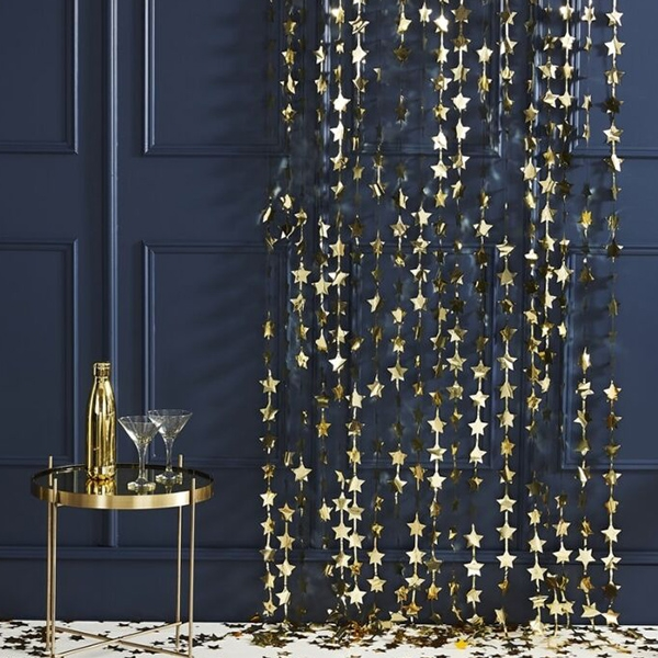 Gold Foil Star Party Backdrop_POP418PO