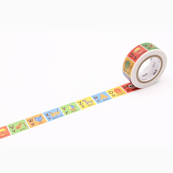 MT Masking Tape KIDS ALPHABET N-Z_MT01KID014(1.5cm)
