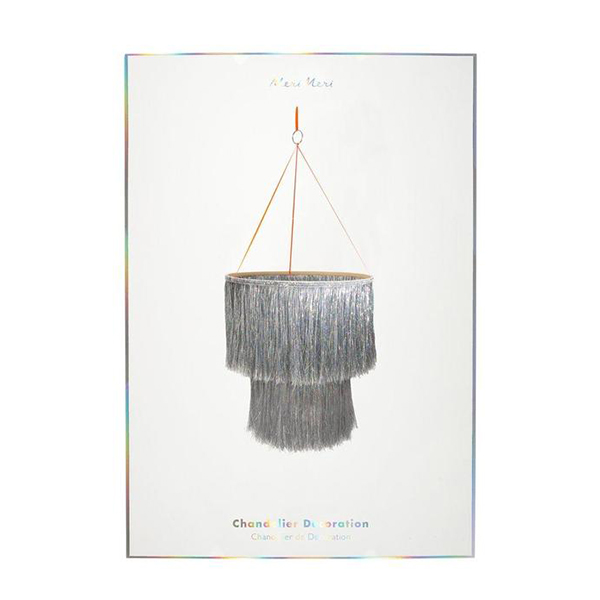 Silver Tinsel Chandelier_ME199102