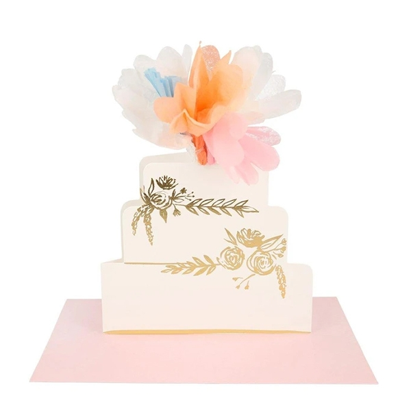 Floral Cake Stand-Up Card(봉투 포함)_ME208117